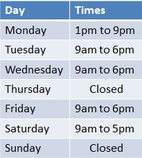 injuyclinic.ie opening hours